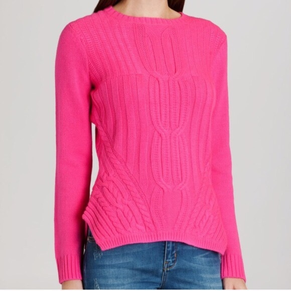 fd6975117a7f73 Ted Baker London Sweaters | Ted Baker Cable Knit Hot Pink Sweater ...